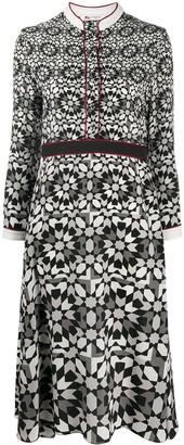 Ports 1961 Geometric-Print Midi Dress