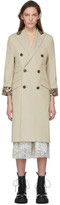 R 13 Beige Double Trench Coat