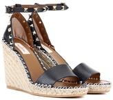 Valentino Garavani Rockstud leather espadrille sandals