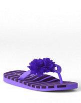 Classic Girls' Floral Flip Flops-Wild Violet