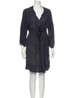Isabel Marant V-Neck Knee-Length Dress Grey