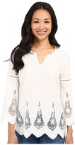 NYDJ Petite Petite Embroidered Eyelet Tunic