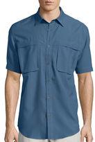 ST. JOHN'S BAY St. John's Bay Short-Sleeve Terra Tek Quick-Dri Fishing Shirt