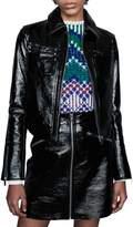 Maje Baptiste Patent Leather Jacket