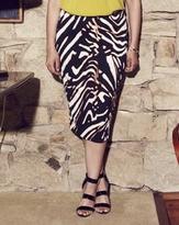 Anna Scholz Animal Print Scuba Pencil Skirt