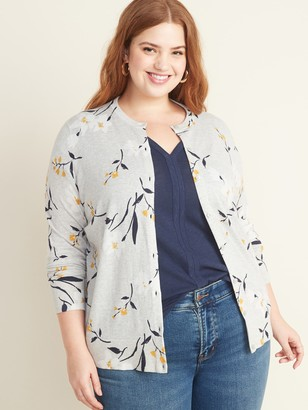 Old Navy Button-Front Plus-Size Crew-Neck Cardi