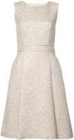 Oscar de la Renta sleeveless textured dress - women - Silk/Polyester - 4