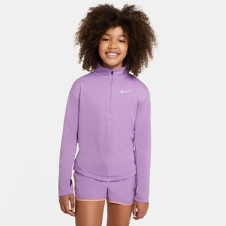 Nike Girls' Half-Zip Long-Sleeve Running Top