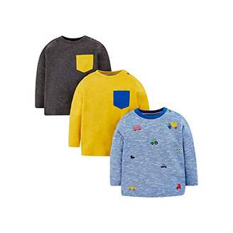 Mothercare Baby MB MM 3PK TEE LS T - Shirt,(Size:68)