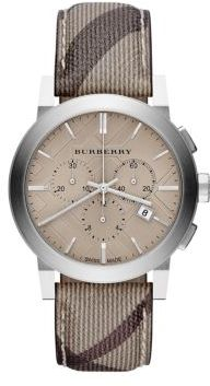 Burberry Check Stainless Steel Chronograph Watch