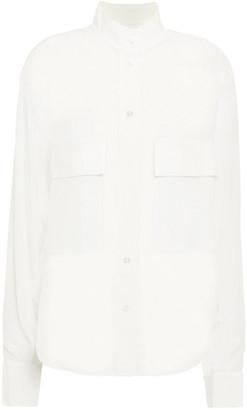 Frame Silk Crepe De Chine Shirt