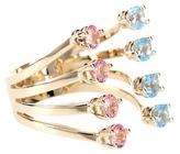 Delfina Delettrez Dots 9kt Gold Ring With Topaz