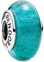 Pandora Disney Collection Jasmine's Signature Color Silver Murano Glass Charm