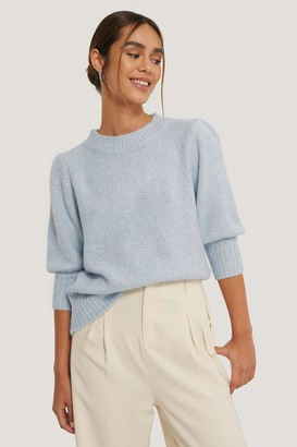 NA-KD Short Puff Sleeve Knitted Sweater
