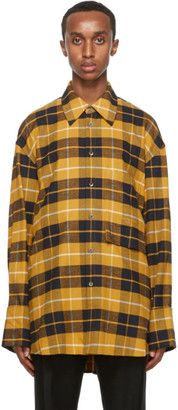 Wooyoungmi Yellow Plaid Shirt