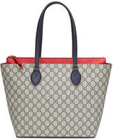 Gucci GG Supreme Medium Tote Bag, Blue/Red