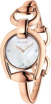 Gucci YA139508 Horsebit rose-gold and mother-of-pearl watch