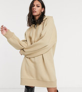 BEIGE Collusion COLLUSION hoodie dress in