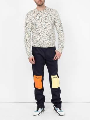 Raf Simons drug patch blue jeans