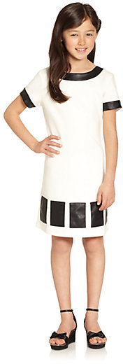 Hartstrings KC Parker by Girl's Pleather Ponte Dress