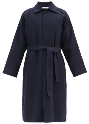 Acne Studios Oversized Belted Cotton-twill Trench Coat - Navy