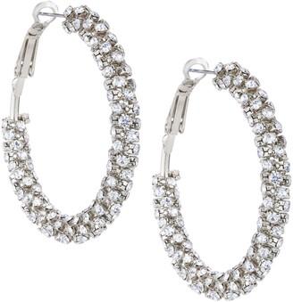Nina Jewelry Crystal Wrapped Hoop Earrings
