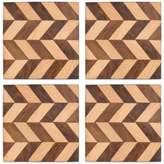 Thirstystone Set of 4 Mango Wood Chevron Coasters