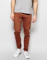 Asos Skinny Jeans In Rust