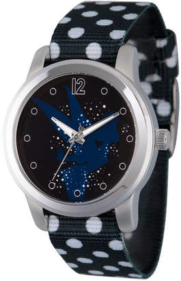 Disney Collection Tinker Bell Womens Black Strap Watch-Wds000348