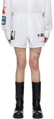 Raf Simons White Patch Boxer Shorts