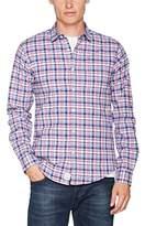 Springfield Men's Rep Oxford Strech Check Dress Shirt