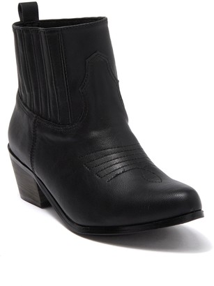 Chase & Chloe Stacked Heel Western Bootie