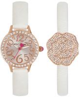 Betsey Johnson Women&s Rose Crystal Fashion Watch