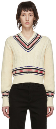 Rag & Bone Off-White Dale V-Neck Sweater