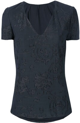 Giorgio Armani Pre-Owned Floral Lace Blouse