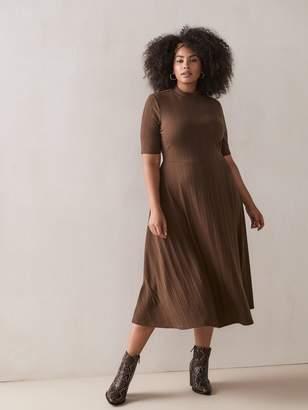 Addition Elle - Fit & Flare Ribbed Midi Dress