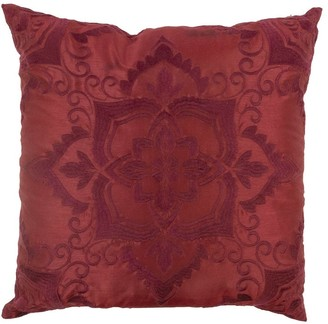 Donna Sharp Spice Postage Stamp UCC Red Decorative Pillow