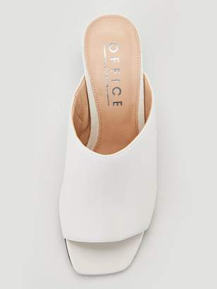 Office Mila Heeled Sandals - White