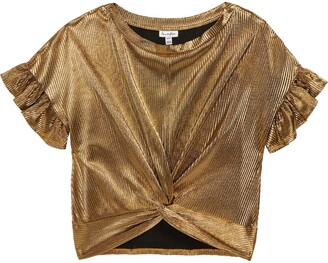Love, Fire Ruffle Twist Front Shirt