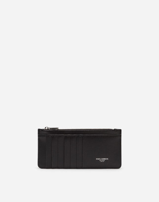 Dolce & Gabbana Vertical Credit Card Holder In Calfskin