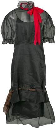 Miu Miu tulle pussy bow neckline dress