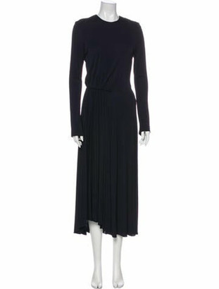 Narciso Rodriguez Crew Neck Long Dress Blue