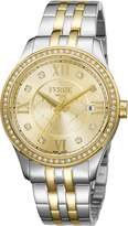 Ferré Milano Women's FM1L047M0101 Champagne dial with Two Toned Stainless-Steel Watch.