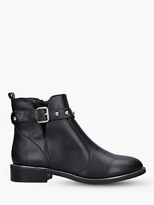 Carvela Span Leather Buckle Ankle Boots, Black