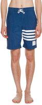 Thom Browne 4-Bar Striped Swim Trunks