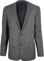 River Island Grey Slim Fit Suit Jackets