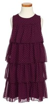 Ruby & Bloom Toddler Girl's Tiered Dot Dress