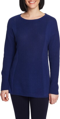 Chaus Mixed Gauge Pullover Sweater
