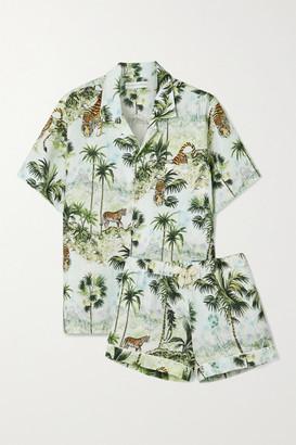 Desmond & Dempsey India Printed Linen Pajama Set - Multi