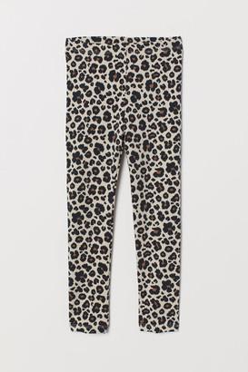 H&M Leggings with Printed Design - Beige